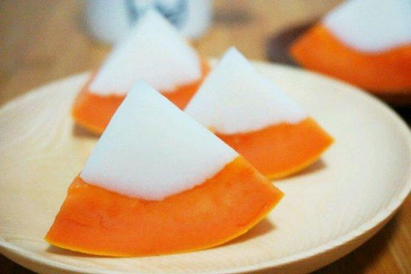 木瓜椰奶布丁的做法