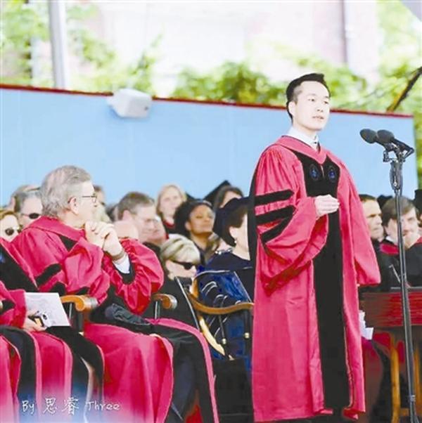 中国学生哈佛毕业演讲;曾用火疗治蜘蛛毒 教育改变人生