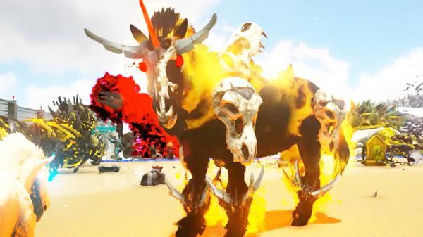 方舟进化生存水晶岛发现会奥义的骷髅马