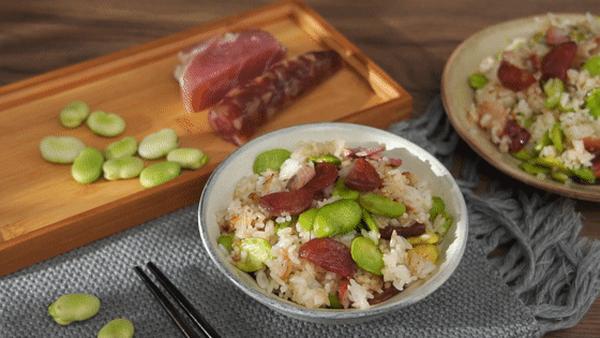 蚕豆焖饭的家常做法