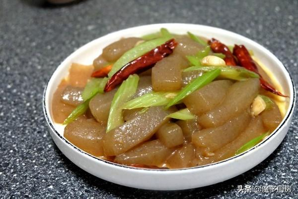 香炒魔芋豆腐的做法