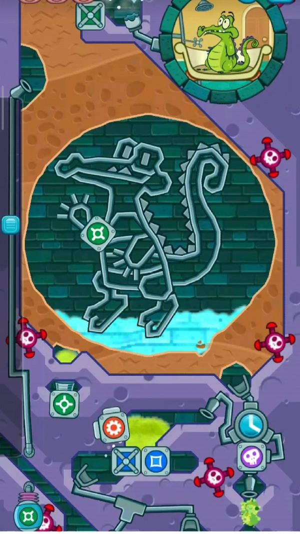 鳄鱼小顽皮爱洗澡2肥皂工厂2-26普通模式攻略