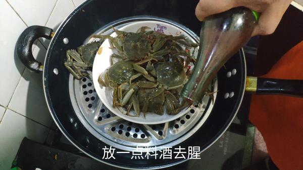 清蒸青蟹多长时间,一斤的青蟹蒸多长时间