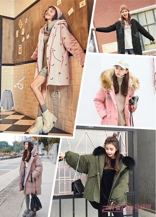 冬装中长款女时尚棉衣外套图片