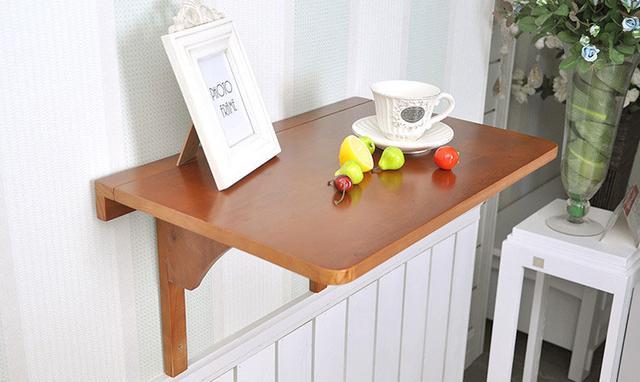 靠墙简易折叠桌子