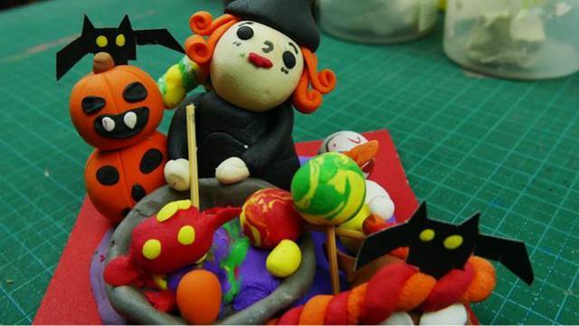 万圣节粘土手工制作教程教你骷髅头手工制作 - 纸艺网手机版