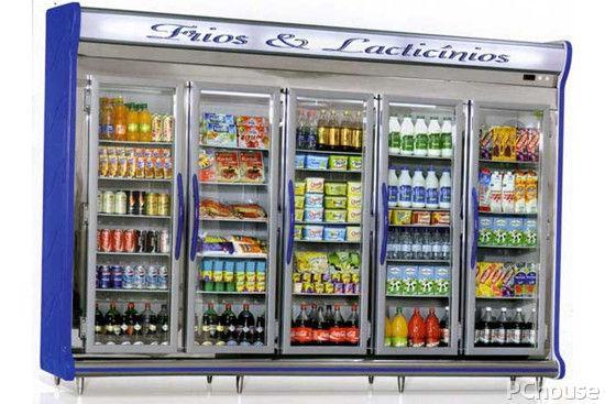 乐创(lecon) 双门展示柜商用冷藏柜立式冷柜保鲜柜 饮料展示...