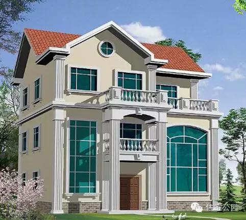 10套新农村自建3D设计图,明明白白盖房子!