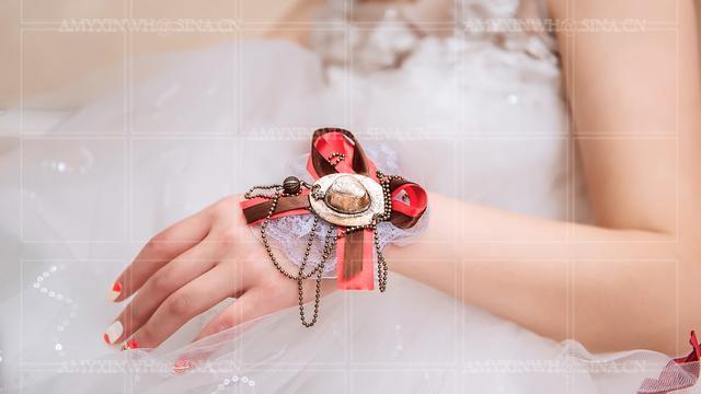 新娘手腕花这么带才好看