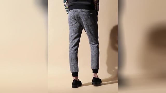休闲小脚男裤