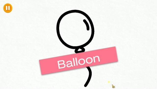 小孩拿氣球圖片簡筆畫