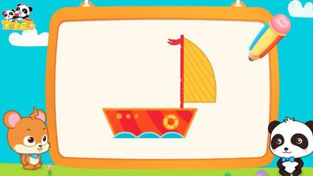 船简笔画简单帆船