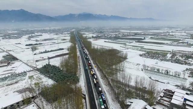 西汉高速堵车