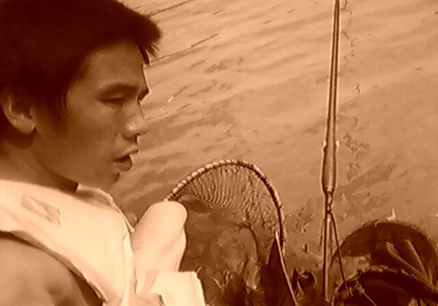十年前的渔获老照片,钓到的野生大草鱼