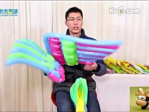手工DIY-魔术气球-变玫瑰花