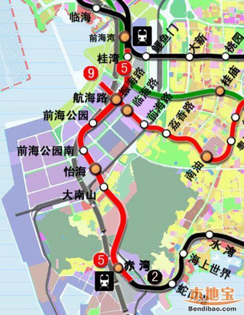 深圳地铁5号线南延线2019年底通车 深圳地铁5号线最新线路图