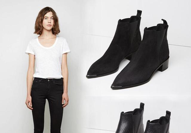 淘好自己98-秋冬款平底真皮女短靴系带机车靴