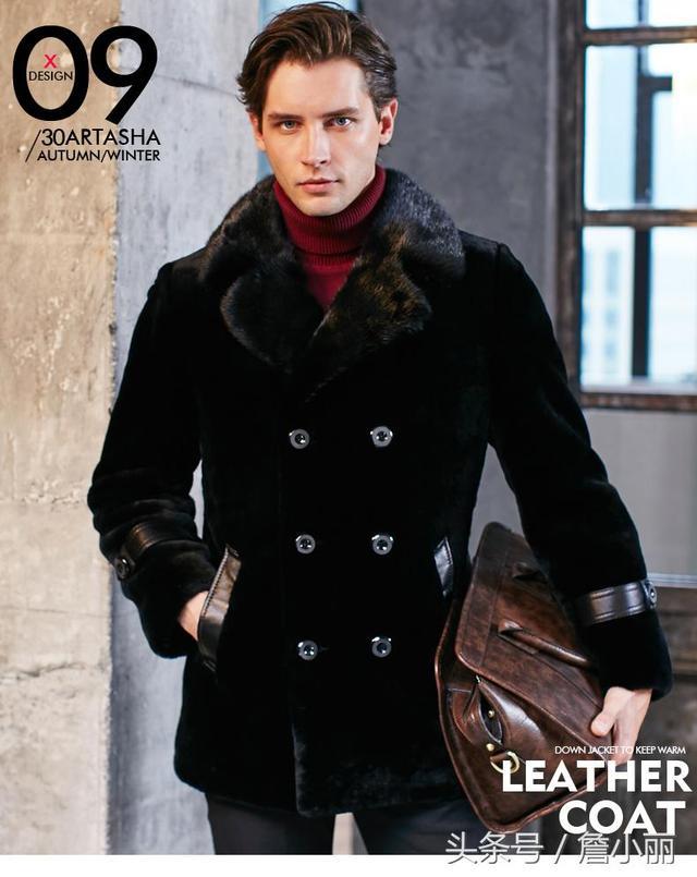 ...真皮外套真皮风衣长款男风衣-「男式风衣、大衣」-马可波罗网