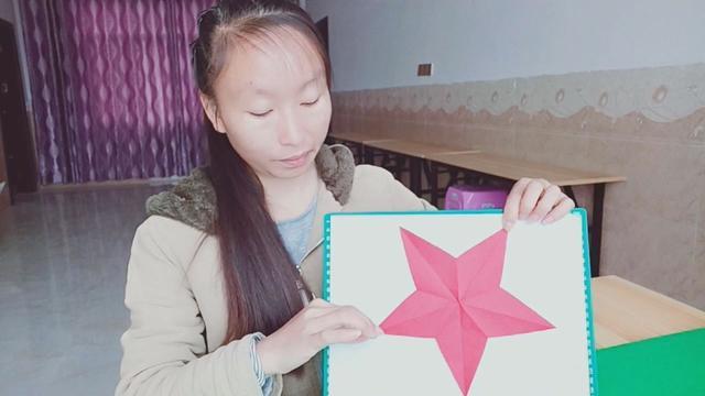 快要失传的五角星窗花剪纸,剪法其实很简单,手工剪纸视频