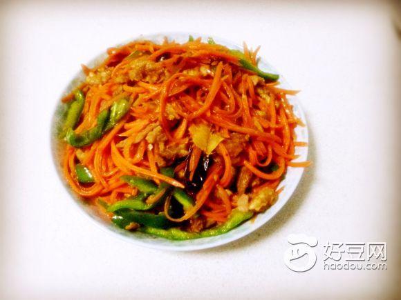 红萝卜丝炒肉怎么做_红萝卜丝炒肉的做法_豆果美食
