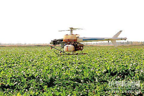 喷洒农药的无人直升机,是烧油的不是电的_网易视频