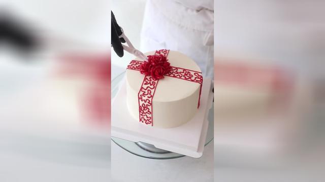 紅色中國結中國元素生日蛋糕送女性送媽媽送愛人送領導送閨蜜