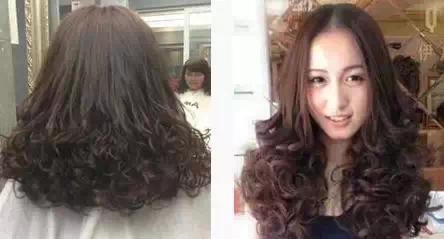 卷发发型图片中长发