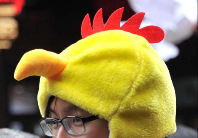 小鸡头饰简笔画彩色
