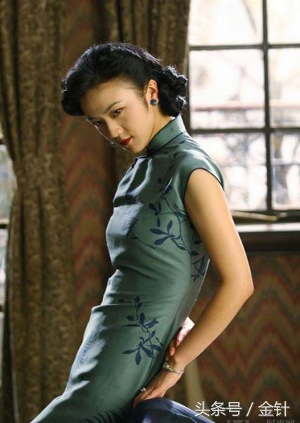 张曼玉红色旗袍图片