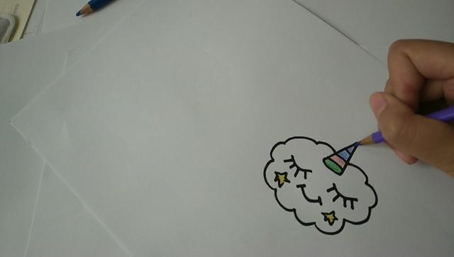 儿童简笔画:可爱小云朵