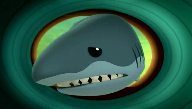 海底小纵队:大白鲨贪心想吃掉皮医生,没想到它却卡在了章鱼堡里