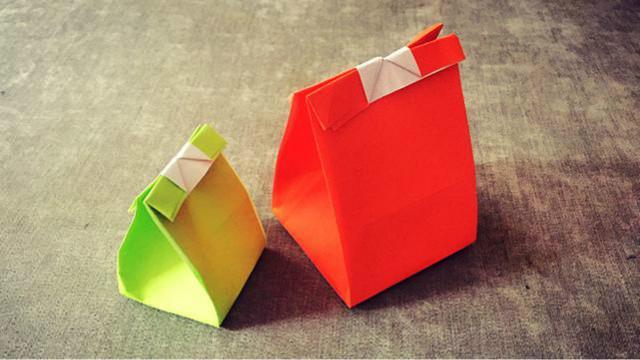 纸在乎你 手工折纸 实用的纸袋折纸视频教程