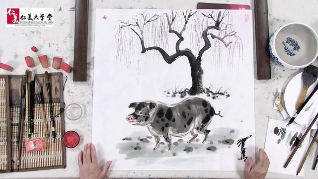 猪的简笔画画法步骤-可爱小猪 - 5068儿童网