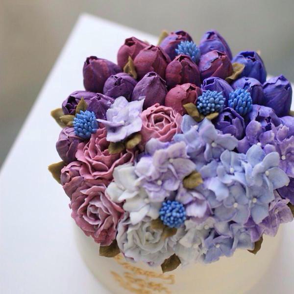 只用4個裱花嘴,8張動圖教你做出「高顏值」韓式蛋糕!
