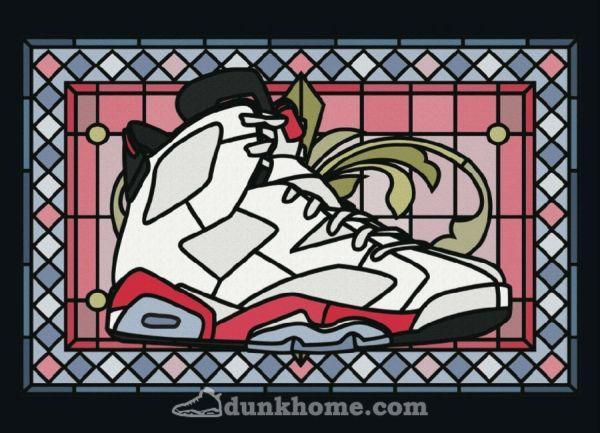 卡通aj球鞋手机壁纸