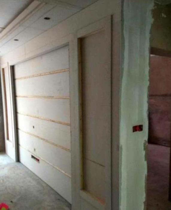 石膏板简易电视背景墙