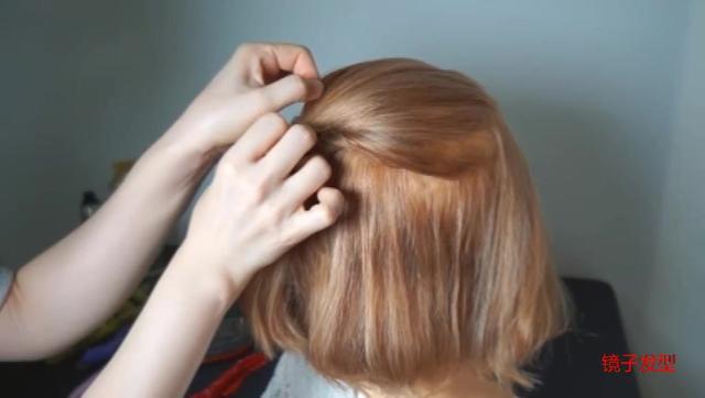 短发怎么扎丸子头