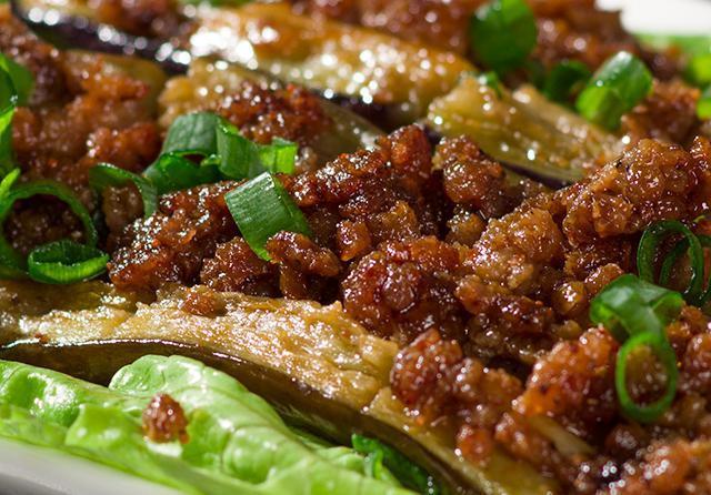 刀切肉末茄子的做法