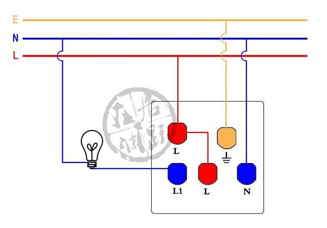 家用电双控开关接线图