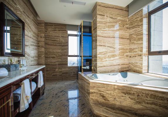 舒适自然韩式汗蒸房背景墙装修图-美乐乐家居商城