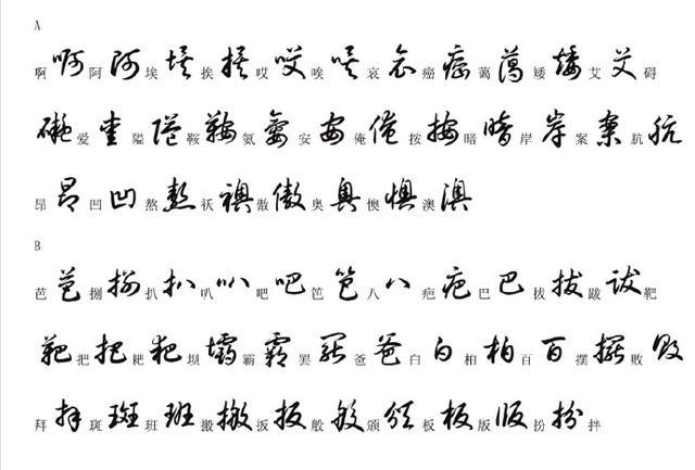 草书字帖3500常用字书