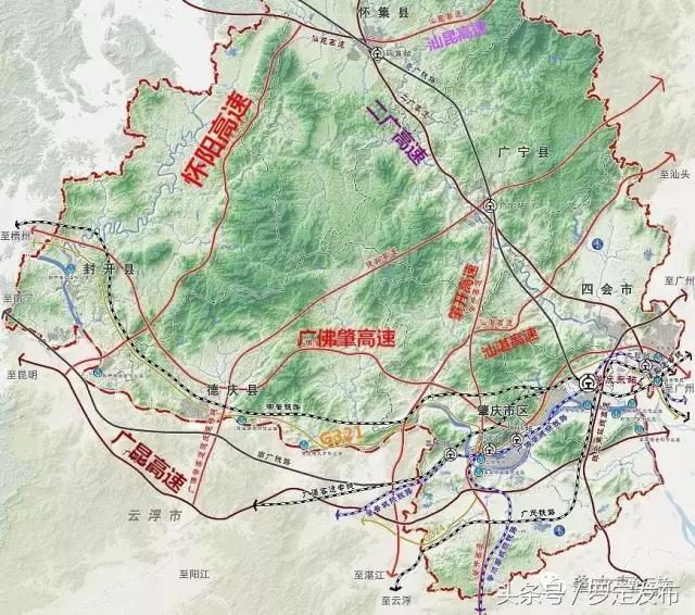 广东罗信高速与罗定机场南互通示意图,通车后将可... _罗定e天空