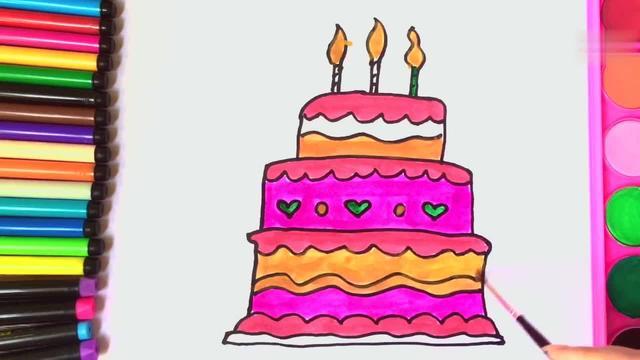 快來畫五層大蛋糕!
