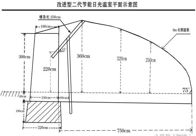 130米×13米日光温室蔬菜大棚设计施工图CAD图纸蔬... -阿里巴巴