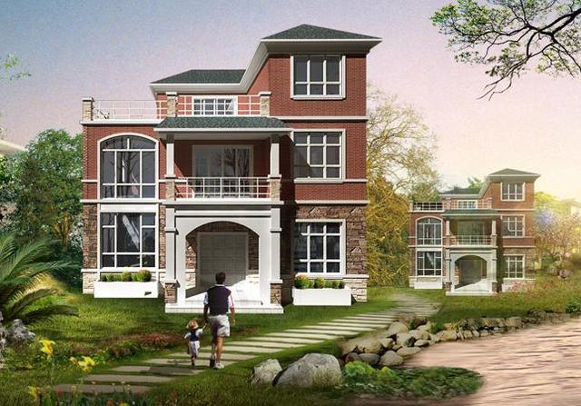 23万农村独栋三层豪华小别墅11x10米设计图