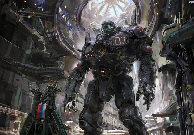 未来科幻重型机甲图片