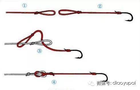 锚鱼串钩的绑法图解