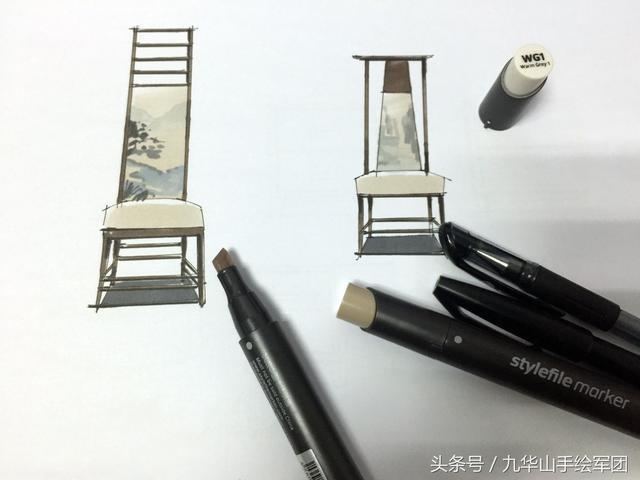 家具设计手绘草图,休闲座椅办公座椅柜子设计手绘 - 堆糖,...