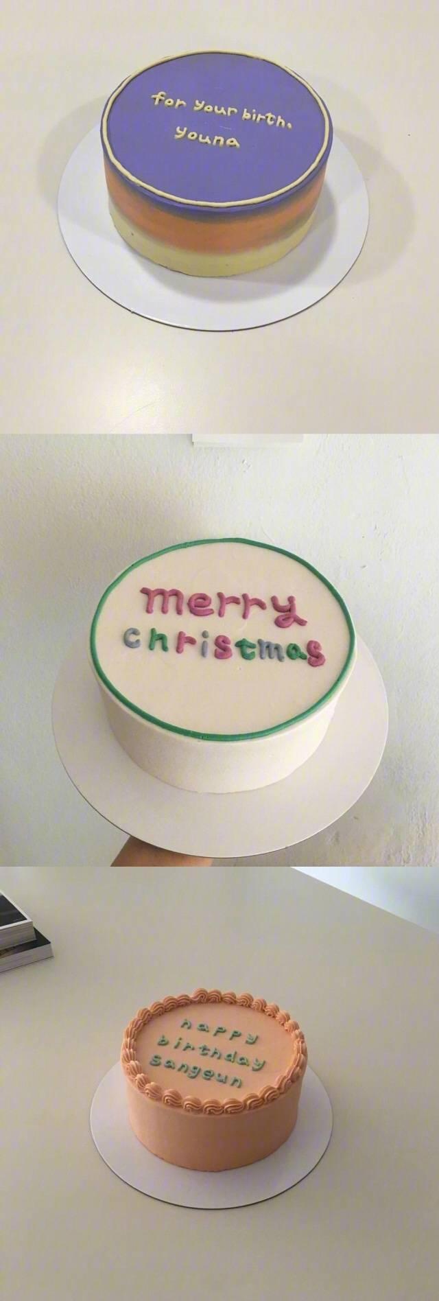 二十七款簡約而不簡單的生日蛋糕,上面的英文字母代表對你愛