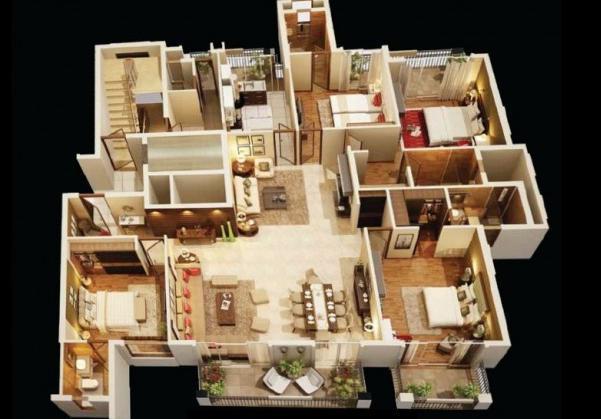 这款南北通透、四开间南向的四房户型,超高得房率!很受追捧!